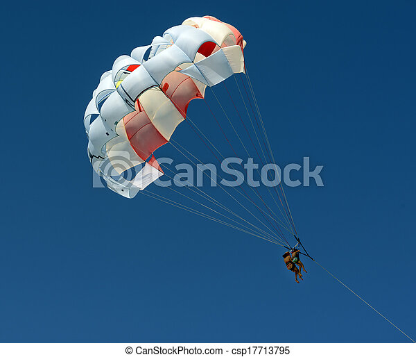 two people Parasailing Sky Aerial Adventure - csp17713795