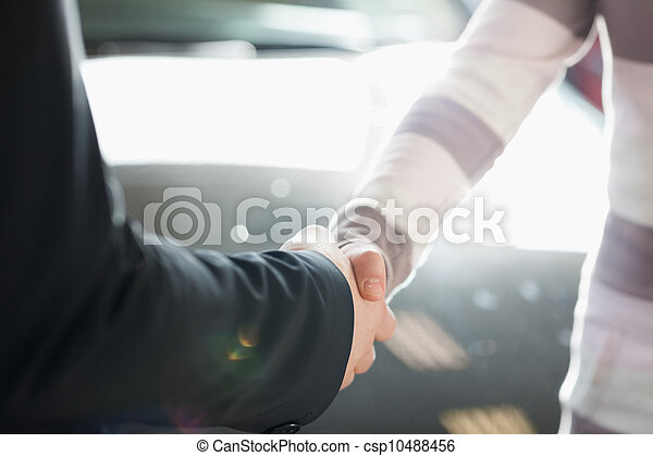 Two people shaking hand - csp10488456