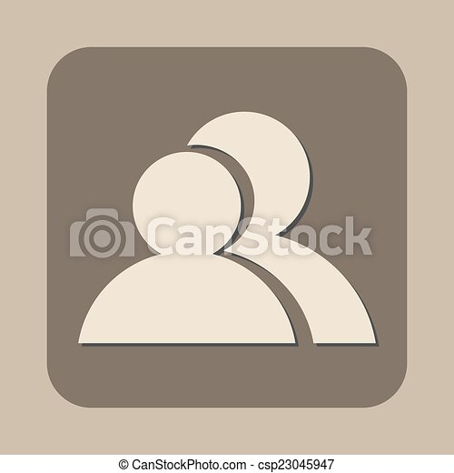 two people vector icon - csp23045947
