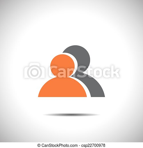 two people vector icon - csp22700978