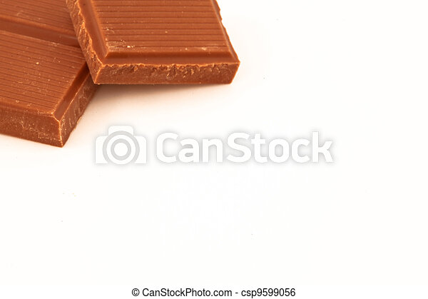 Two pieces of milk chocolate - csp9599056