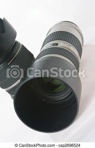 two professional camera lens - csp2696524