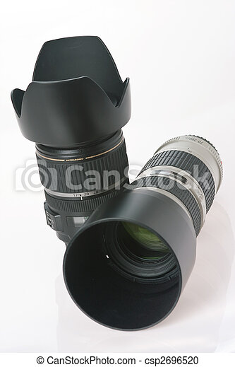 two professional camera lens - csp2696520