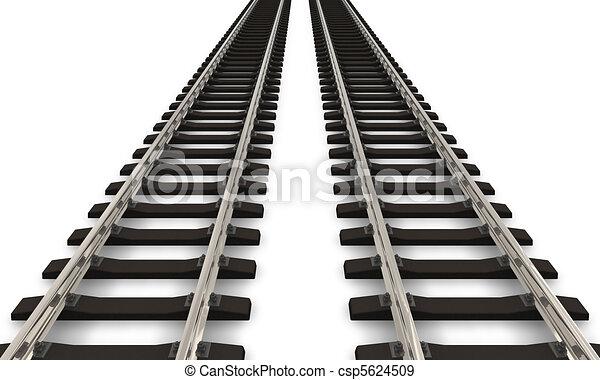 Two railroad tracks - csp5624509