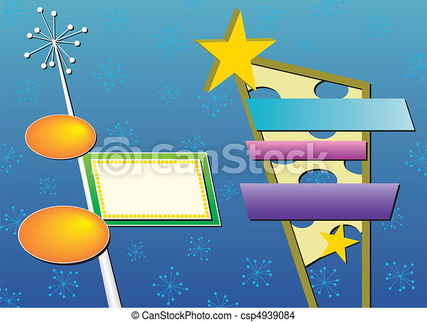 Two Retro Advertising Signs - csp4939084