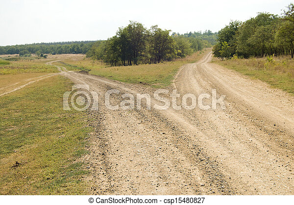 two rural roads - csp15480827
