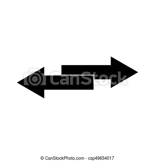 Two Side Arrows Black Color Icon Two Side Arrows It Is Black Color
