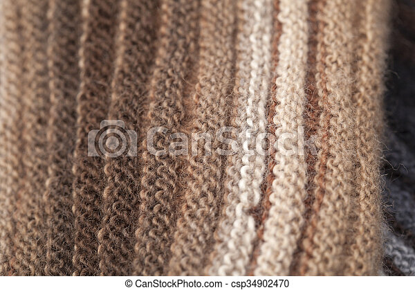 two-sided ribbed knitted scarf - csp34902470