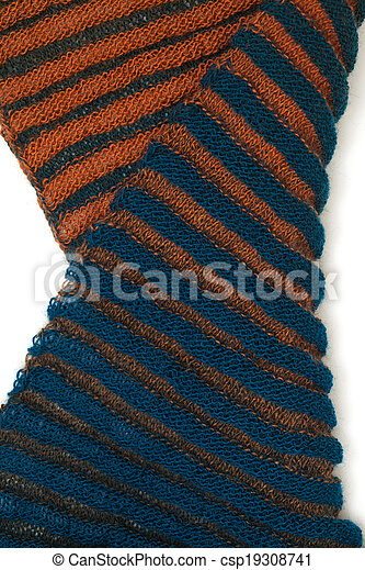 two-sided ribbed knitted scarf - csp19308741
