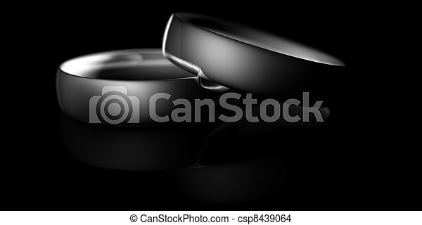 Two silver rings - csp8439064