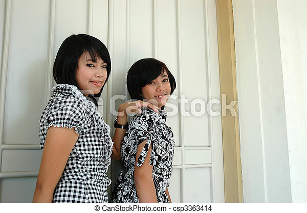 two sisters - csp3363414