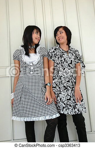 two sisters - csp3363413