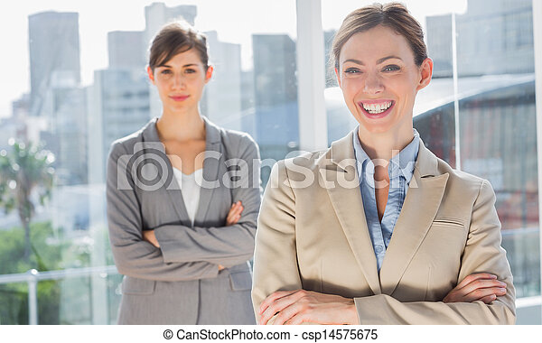 Two smiling businesswomen - csp14575675