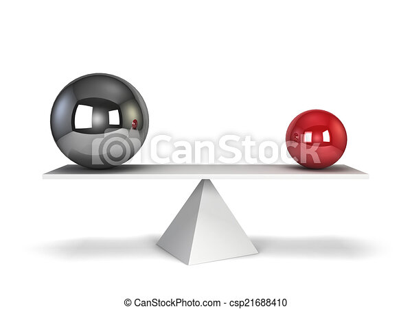 Two spheres in balance - csp21688410