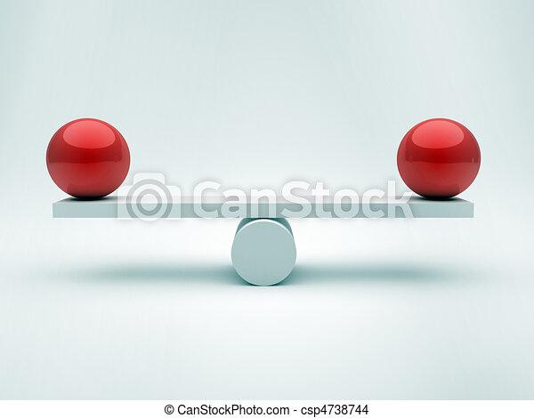 Two spheres in equilibrium - csp4738744