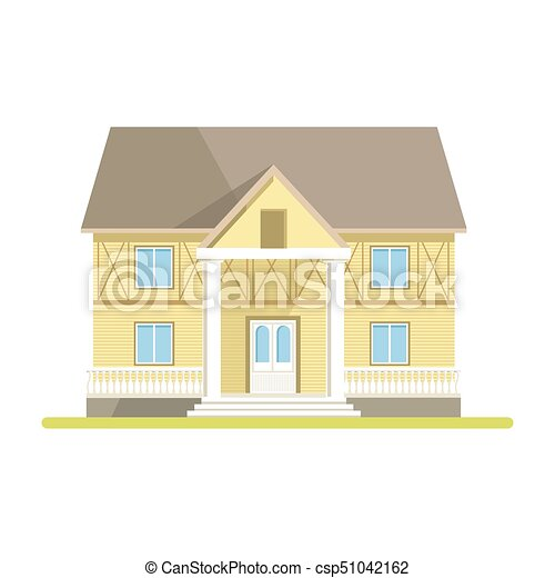 Two Storey Country House With Paneling And Big Entrance