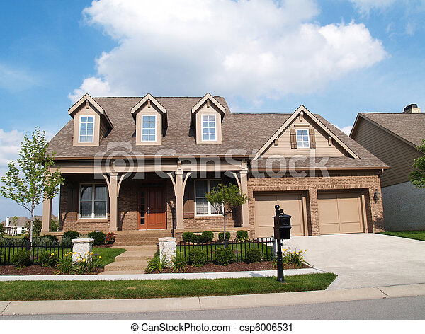 Two Story Brick Home - csp6006531
