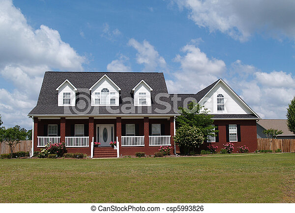 Two Story Brick Residential Home Two Story Residential