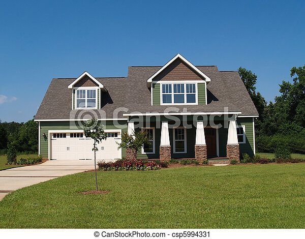 Two Story Residential Home  - csp5994331