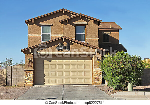Two-story Stucco Home in Tucson, Arizona - csp82227514