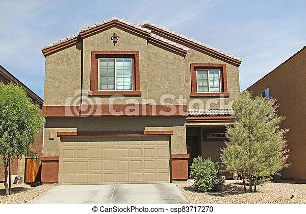 Two-story Stucco Home in Tucson, Arizona - csp83717270