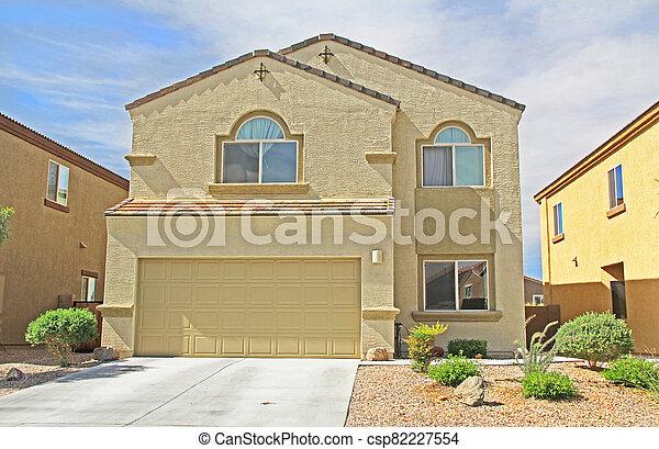 Two-story Stucco Home in Tucson, Arizona - csp82227554