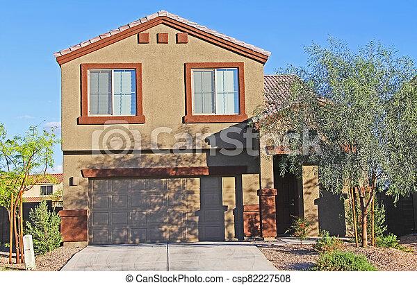 Two-story Stucco Home in Tucson, Arizona - csp82227508