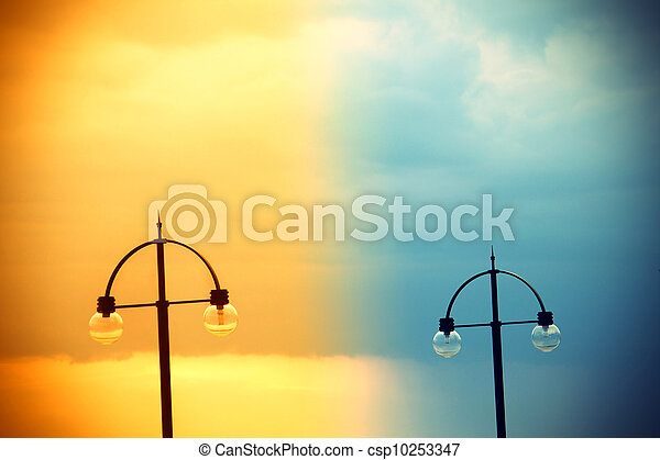 Two street lamps - csp10253347