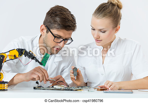 Two students of technology - csp41980796