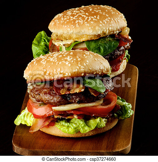 Two Tasty Hamburgers - csp37274660