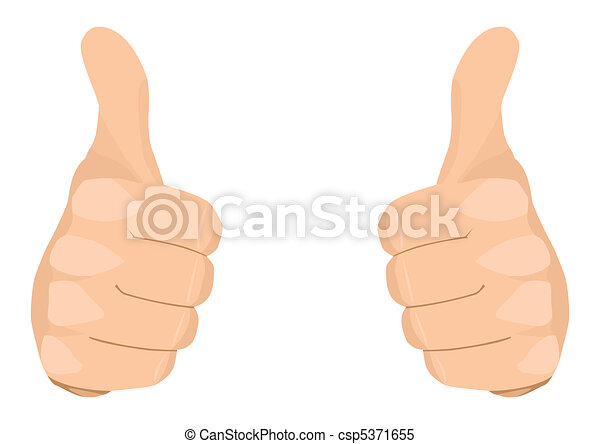two thumbs up stock vector of two thumbs up rh canstockphoto com 2 thumbs up clipart Thumbs Pointing to Self