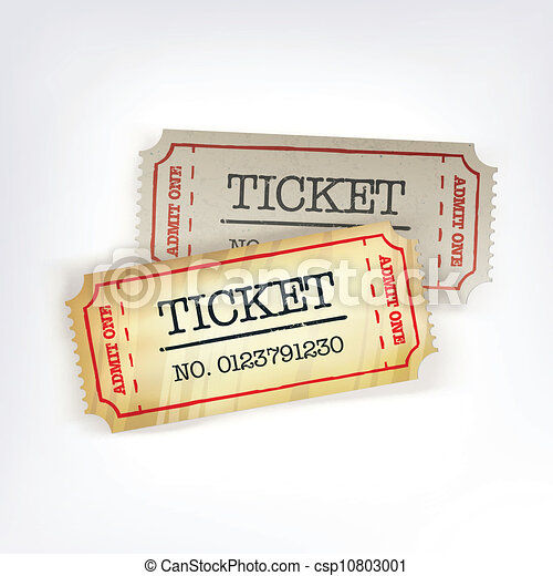 Two tickets. Vector illustration, EPS10 - csp10803001