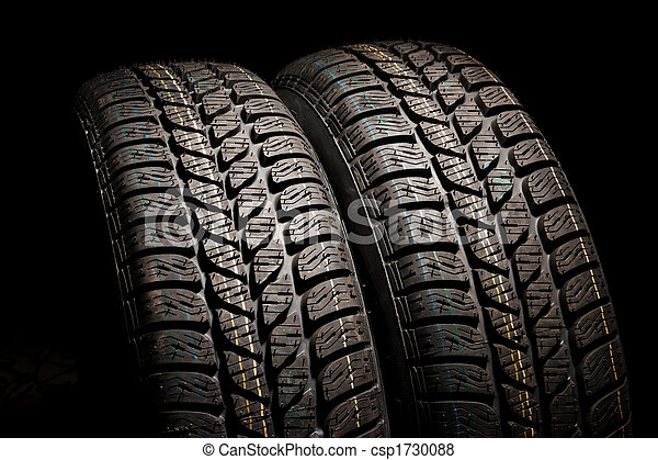 Two tires close up - csp1730088