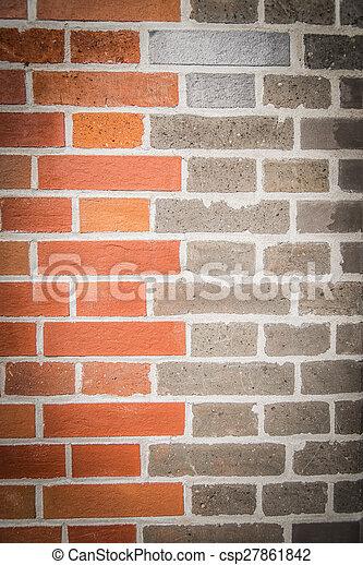 Two tone color brick wall 2 - csp27861842