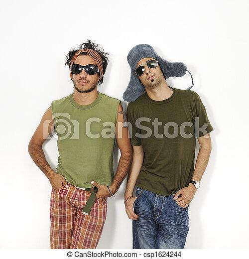 Two trendy guys - csp1624244