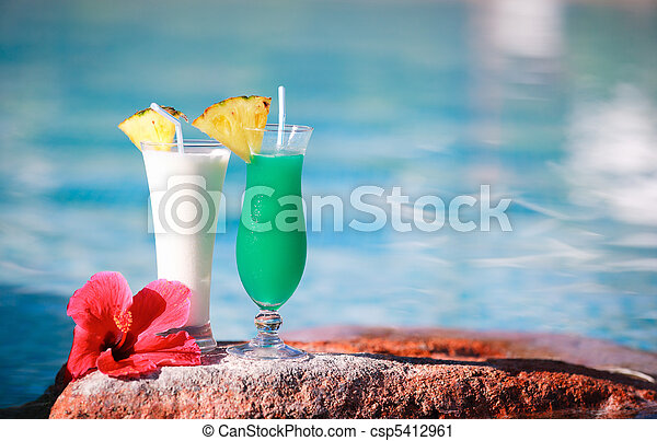Two tropical cocktails - csp5412961