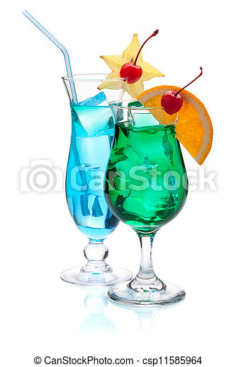 Two tropical cocktails - csp11585964