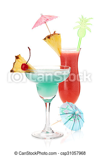 Two tropical cocktails - csp31057968