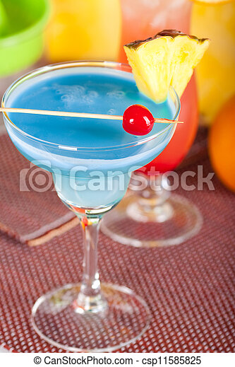 Two tropical cocktails - csp11585825