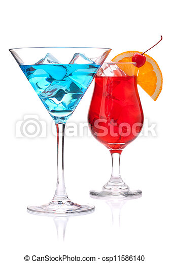 Two tropical cocktails - csp11586140