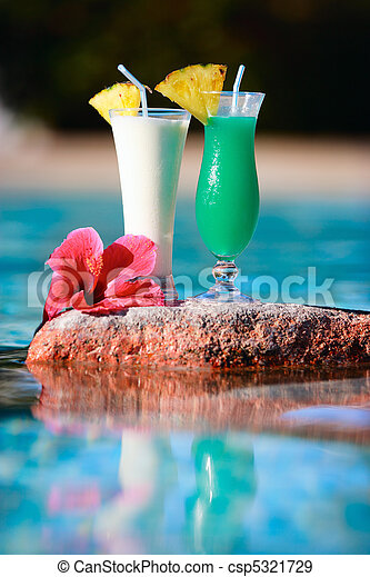 Two tropical cocktails - csp5321729