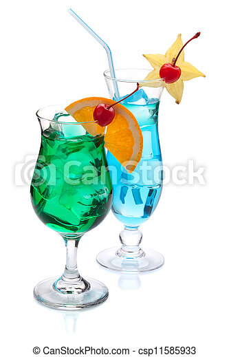 Two tropical cocktails - csp11585933