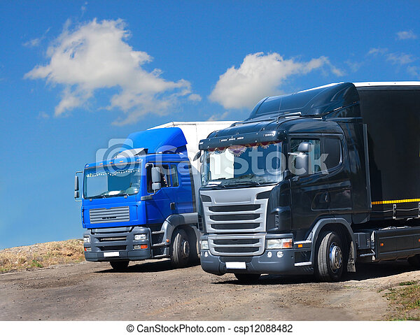 two trucks against the sky - csp12088482