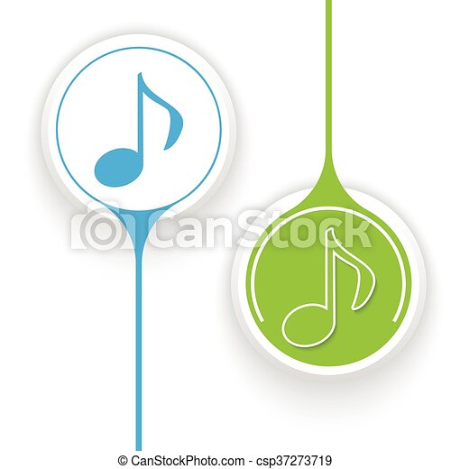 Two vector objects and music icon - csp37273719