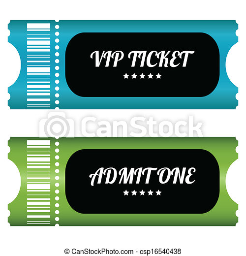 two VIP tickets with special design - csp16540438