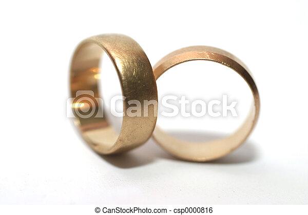 Two wedding rings - csp0000816