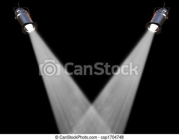 Two white spot lights - csp1704748