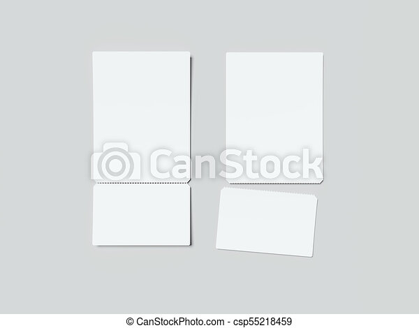 two white tear off tickets 3d rendering two white tear off tickets