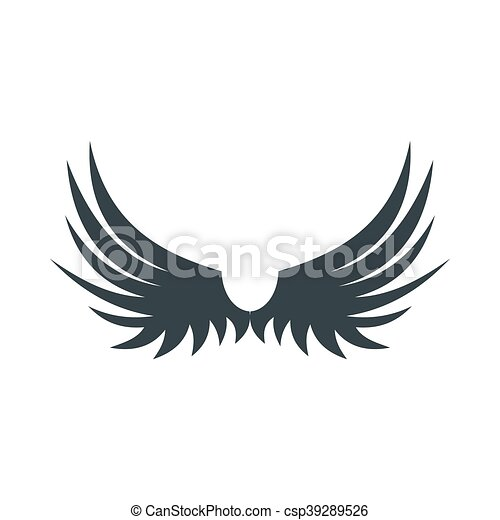 Two wings of bird icon, flat style - csp39289526