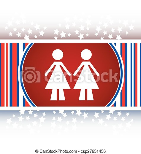 two woman glossy web icon on white background vector - csp27651456